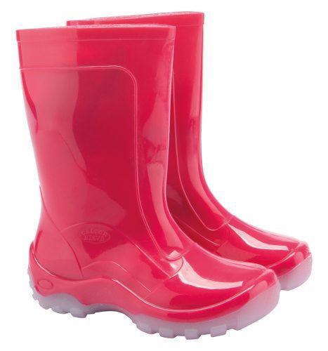 1e806fccba0883 Bota Infantil Impermeável Pink Galocha Pvc / Borracha Leve