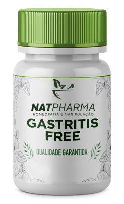 Gastritis Free - Recomendado para azia, dor no estômago, úlcera e gastrite - 60 saches