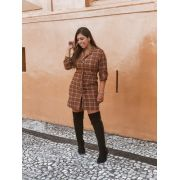 VESTIDO ESTILO TRENCH COAT -TERRACOTA