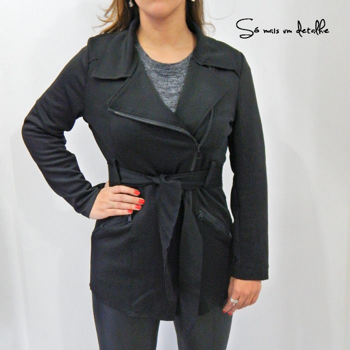 TRENCH COAT DE NEOPRENE