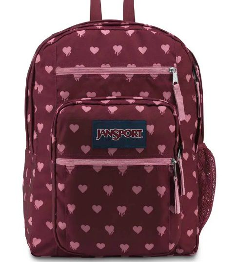 MOCHILA JANSPORT BIG STUDENT  RUSSET RED BLEEDING HEARTS