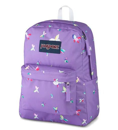 MOCHILA JANSPORT SUPERBREAK - PURPLE DAWN BUTTERFLY KISSES