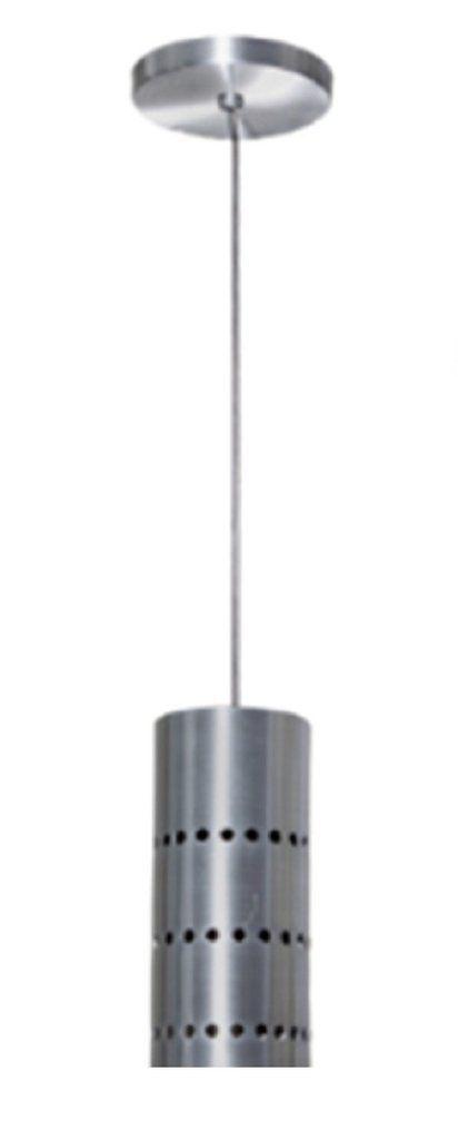 Lustre Pendente Cilindro em Alumínio Escovado - Debby Artes