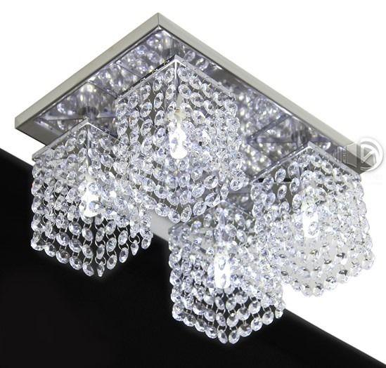 Lustre Plafon de Cristal Legítimo - Lavabo & Corredor - Base 31x20 cm - Debby Artes