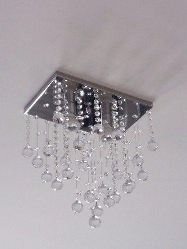 Lustre Plafon de Cristal Legítimo - Lavabo E Corredor e Hall - Base 31x20 cm - Debby Artes