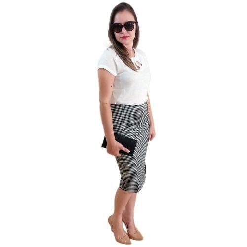 e79954b73 Blusa Feminina Social T Shirt Branca Moda Blogs E Instagram - COMPRA ...