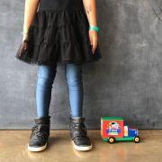 Calça Legging Infantil Brilhante Azul Lunar