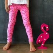 Calça Legging Infantil Estampada Flamingo