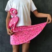 Short Saia Estampado Flamingo