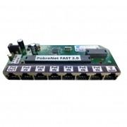 Placa Xwave PobreNet 2.0 PAC Switch 8 Portas Fast Ethernet Chave VLAN-BRIDGE 12 - 48V - PCBA