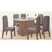 Conjunto de Mesa e 6 Cadeiras Liz - Astra