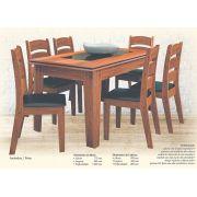 Conjunto de Mesa e 6 Cadeiras Madri - Astra