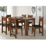 Conjunto de Mesa Pérola e 6 Cadeiras Nicoli - Sonetto