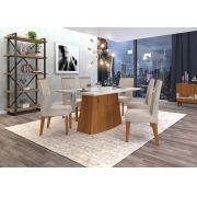 Conjunto de Mesa Sorela 1,60m e 6 Cadeiras Áurea - DJ Móveis