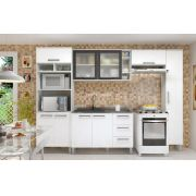 Cozinha Modulada Bia 2 - 5 Peças com Vidro e Nicho - Luciane