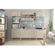 Cozinha Modulada Samia 2 - 5 Peças com Portas de Vidro e Nicho - Luciane
