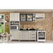 Cozinha Modulada Samia 4 - 4 Peças Portas de Vidro e Nicho - Luciane