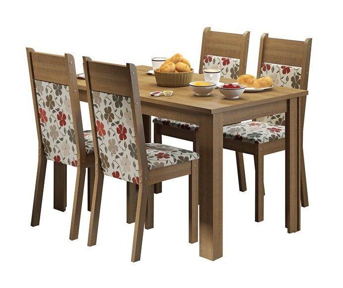 Conjunto de Mesa e 4 cadeiras Havana - Madesa