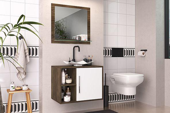 Kit Balcão para Banheiro com Espelheira e Cuba Elite - Art Cas