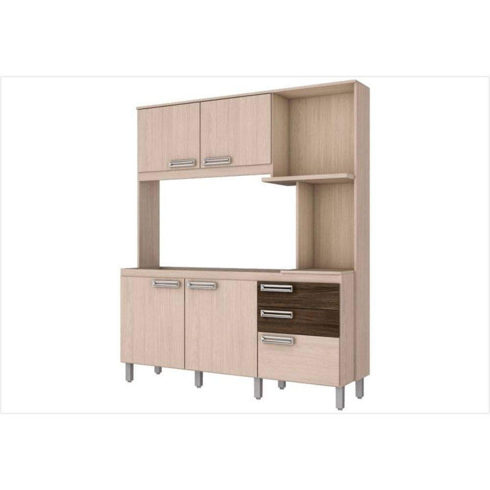 Kit Cozinha Compacta 05 Portas B108 Fendi/Moka - Henn