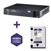 DVR Stand Alone Multi HD Intelbras MHDX-1008 08 Canais + HD 2TB WD Purple de CFTV
