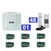 Kit Central de Interfone Condomínio com 48 Ramais Comunic 48 + Terminais HDL