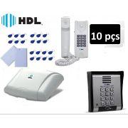 Porteiro Eletrônico Hdl Coletivo 10 Pontos Leitor 20 Tags