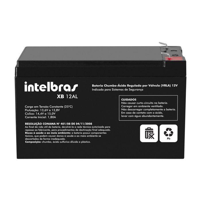Bateria de Alarme e Cerca Elétrica Intelbras XB 12AL 12v