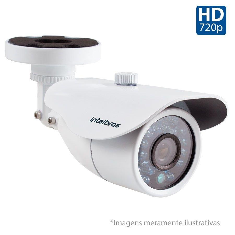 """Câmera Bullet Infravermelho Híbrida Intelbras VM 3120 IR G4 - AHD 720p e Analógica 1000 Linhas  1/3"""" e lente de 2.8 mm"""
