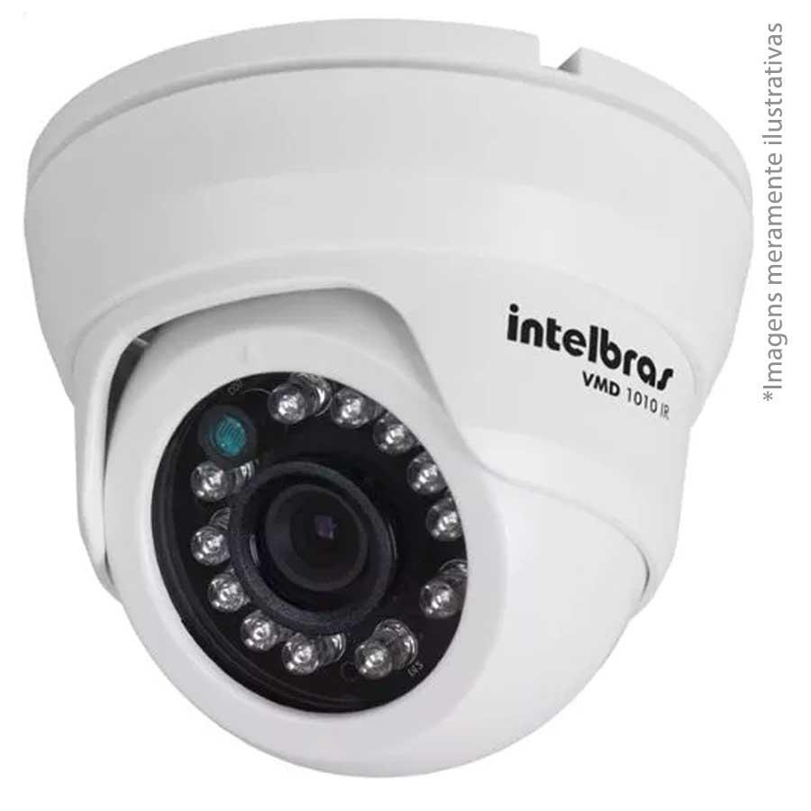 Câmera Dome Infravermelho Híbrida Intelbras VMD 1010 IR G4 - AHD HD 720p e Analógica 900 Linhas Lente: 3.6 mm