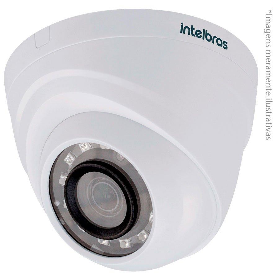 Câmera Dome Infravermelho Multi HD 4 em 1 Intelbras VHD 1120 D G4 HD 720p 2,8mm - HDCVI, HDTVI, AHD, ANALÓGICO