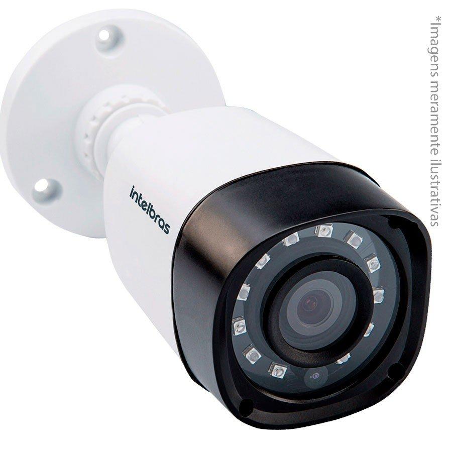 Câmera Bullet Infravermelho Multi HD 4 em 1 Intelbras VHD 1010 B G4 HD 720p 3,6mm - HDCVI, HDTVI, AHD, ANALÓGICO