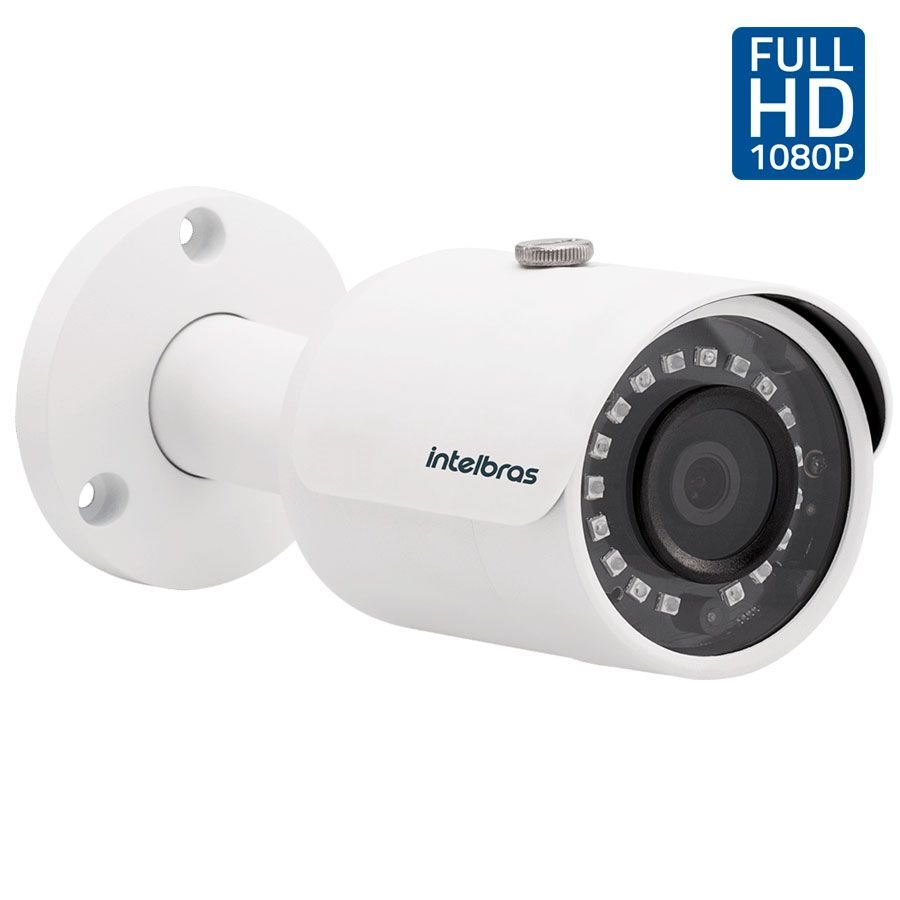 Câmera Infravermelho Multi HD 4 em 1 Intelbras VHD 3230 B G4 Full HD - HDCVI, HDTVI, AHD, ANALÓGICO Lente de 3.6 mm