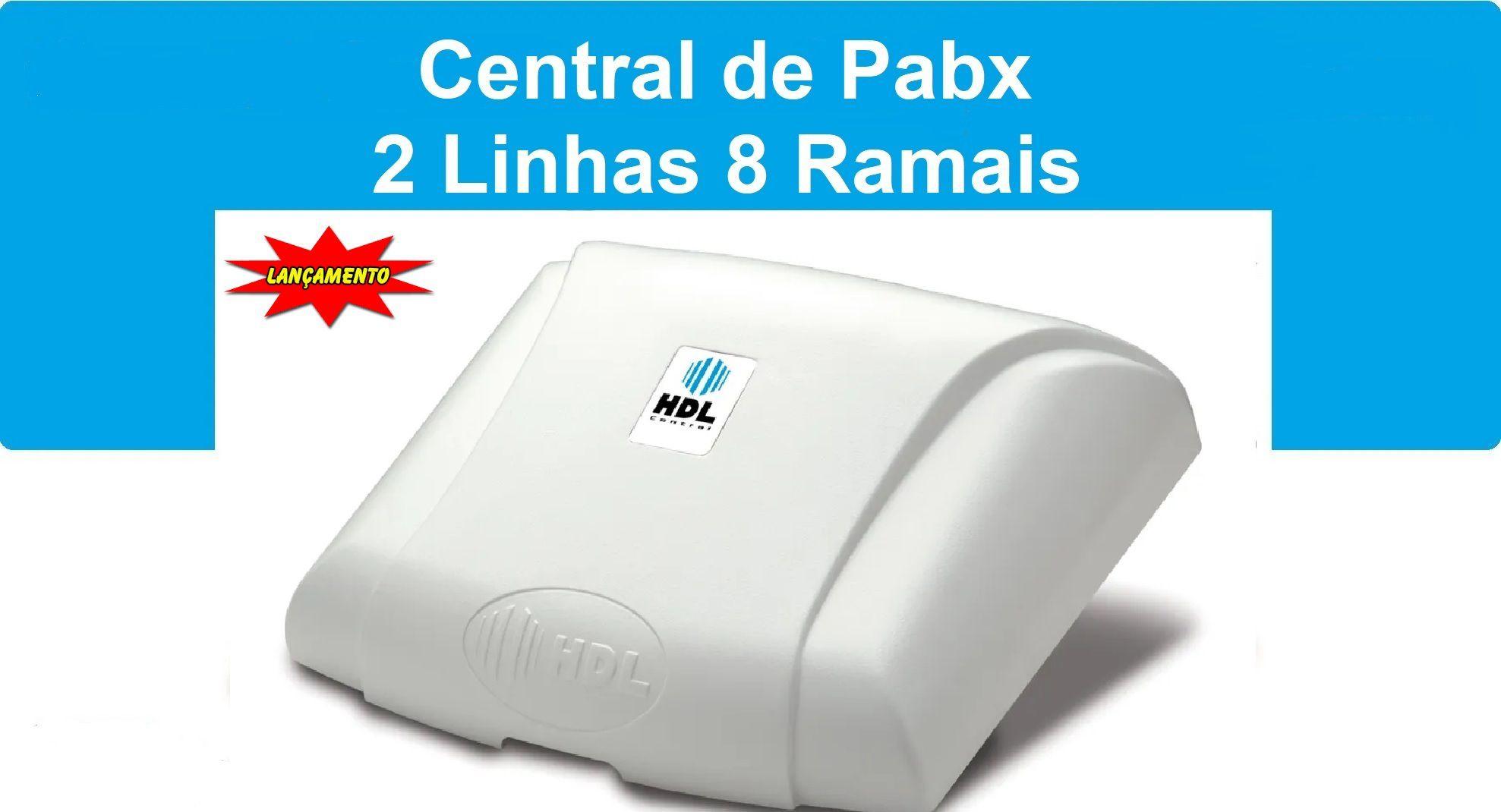 Central de Pabx Centrix  c/ 2 Linhas e 8 Ramais HDL
