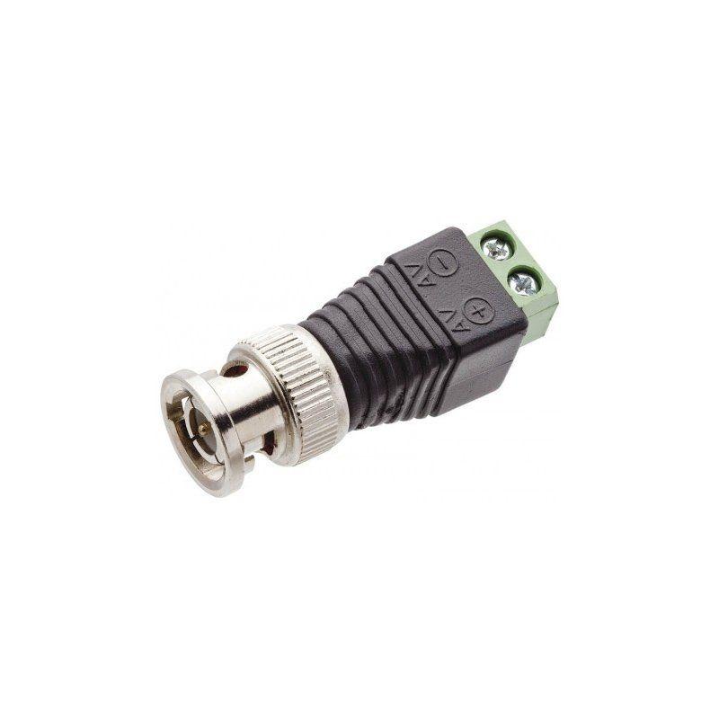 20 Conector Plug BNC Macho com Borne