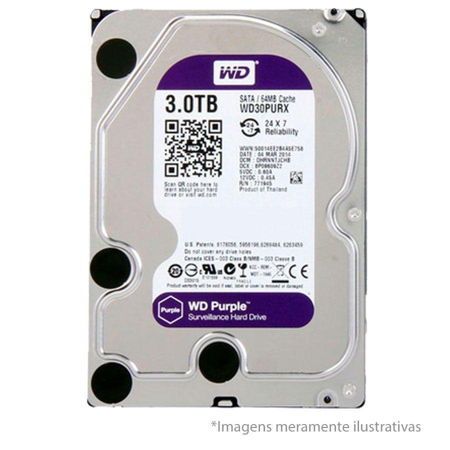 DVR Stand Alone Intelbras MHDX 3016 16 Canais Full HD 1080p Multi HD + 08 Canais IP 5 Mp + HD WD Purple 3TB