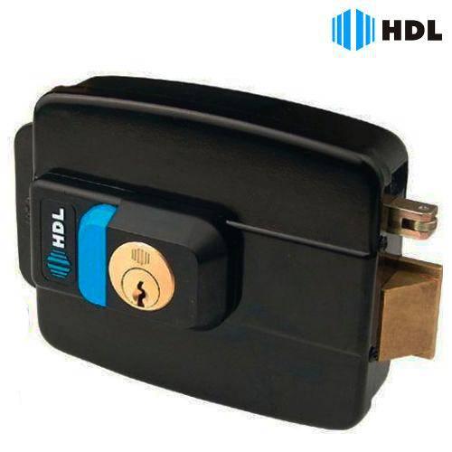Fechadura Elétrica C90 A.F. Dupla Com Botão Preta HDL