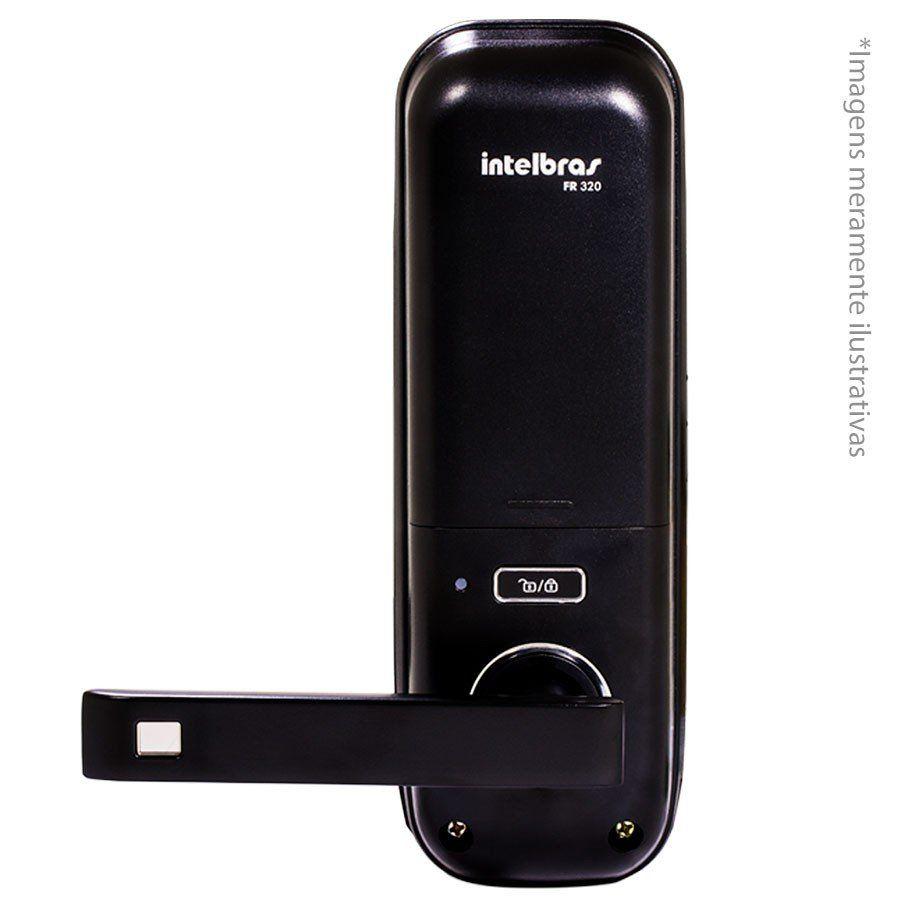 Fechadura Eletrônica Digital Intelbras FR 320 com Maçaneta de embutir, touch screen, por senha ou cartão de proximidade