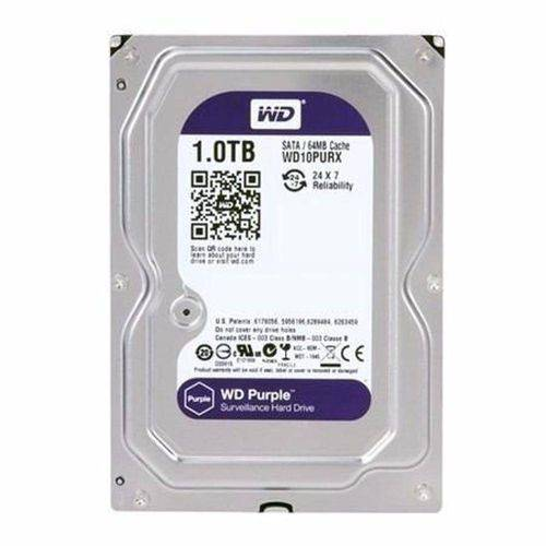 Hd Interno Wd Purple 2 Tb Sata 6gb/S 7200 Rpm Para Vigilância/Dvr Wd20purx