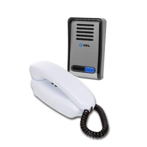 Interfone HDL F8 S NTL Porteiro Eletrônico Residencial Com Monofone 2 Botões
