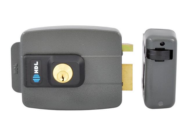 Kit Fechadura Elétrica Hdl + 2 Controles + Receptor Interna