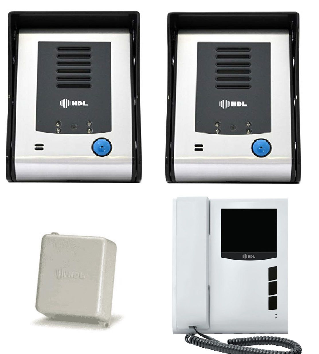 Kit Video Porteiro Eletrônico HDL Sense Classic S Colorido Com 2 Porteiros e RL1000