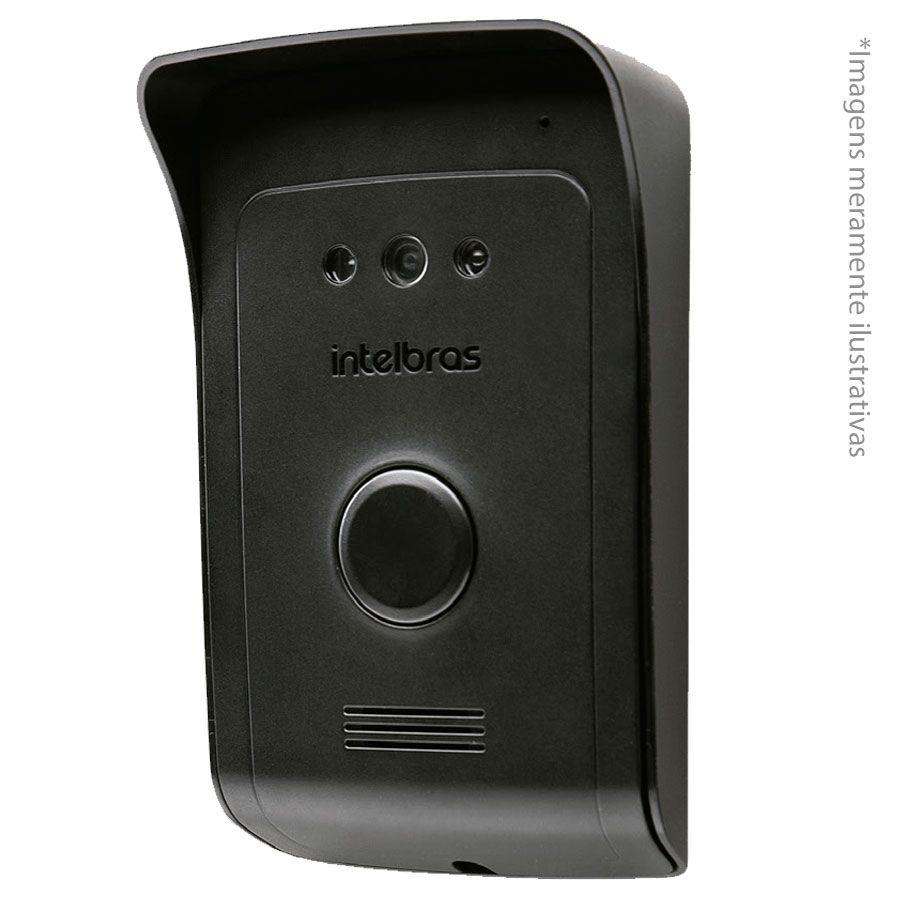 Kit Vídeo Porteiro Interfone IVR 1010, visualização câmera extra, abre 2 portões Intelbras