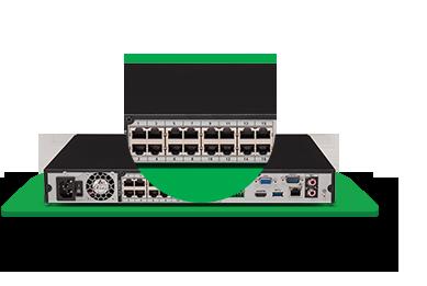 NVR, HVR Stand Alone Intelbras NVD 3116-P 16 Canais, para Camera IP, OnVif