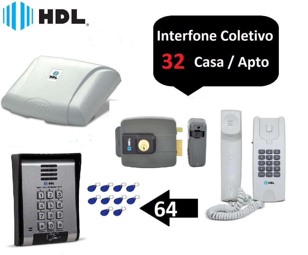 Porteiro Coletivo 32 Ponto Fechadura Controle De Acesso Hdl +64 TGS