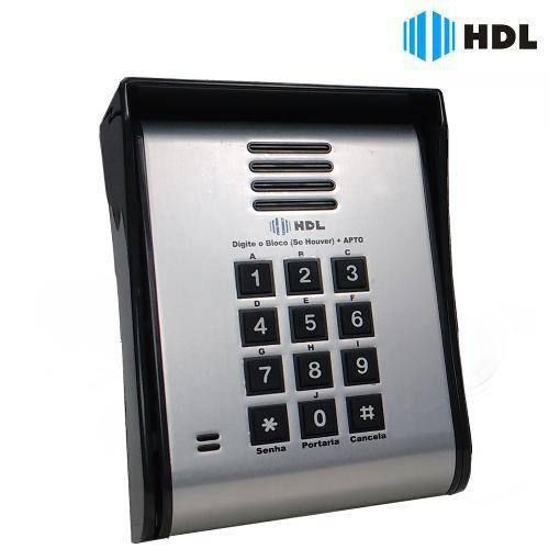 Porteiro Eletrônico Coletivo 6 Pontos Fechadura Teclado Hdl