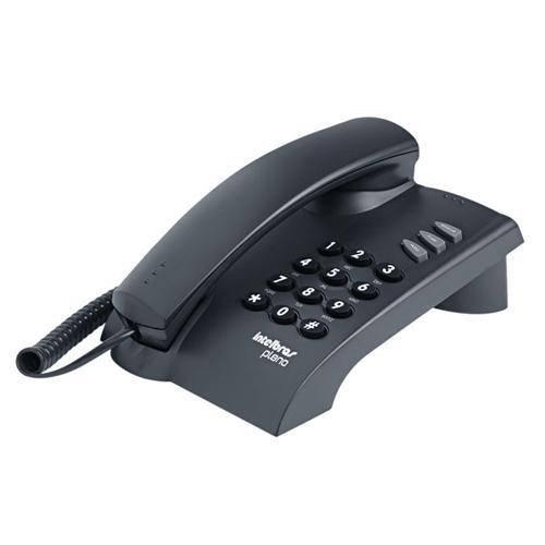 Telefone com fio de mesa ou parede Pleno preto Intelbras