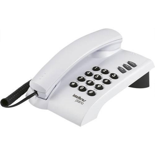 Telefone com fio de mesa ou parede Pleno BRANCO Intelbras