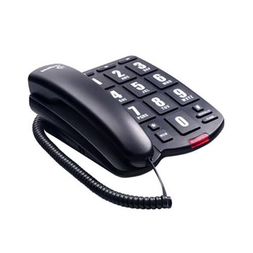 Telefone com Fio Tok Fácil Preto Intelbras