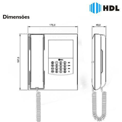 Monitor Eletrônico Com Vídeo e Telefone Pabx HDL